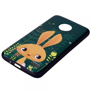 For MOTO E4 Cute Rabbit TPU Phone Protection Shell -