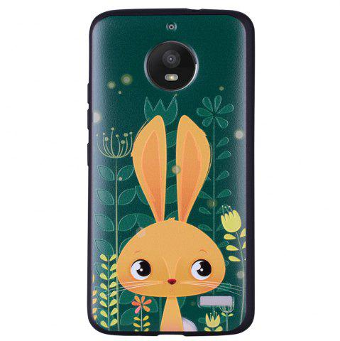 Hot For MOTO E4 Cute Rabbit TPU Phone Protection Shell