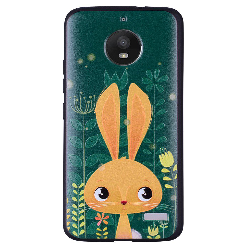 Для MOTO E4 Cute Rabbit TPU Phone Protection Shell