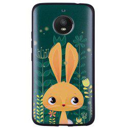 For MOTO E4Plus Cute Rabbit TPU Phone Protection Shell -