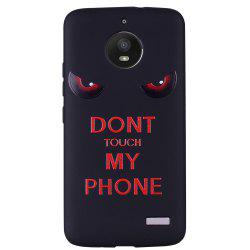 For MOTO E4 Red Eyes TPU Phone Protection Shell -
