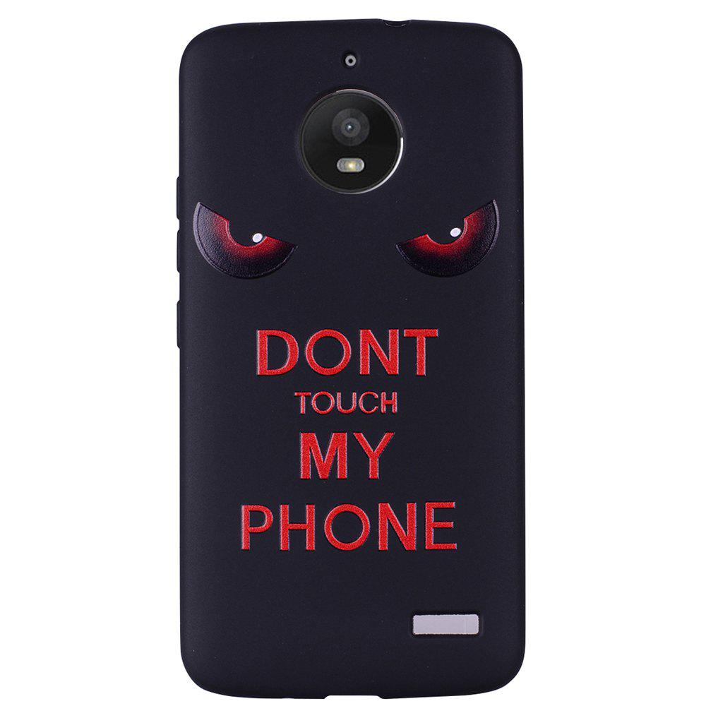 Best For MOTO E4 Red Eyes TPU Phone Protection Shell