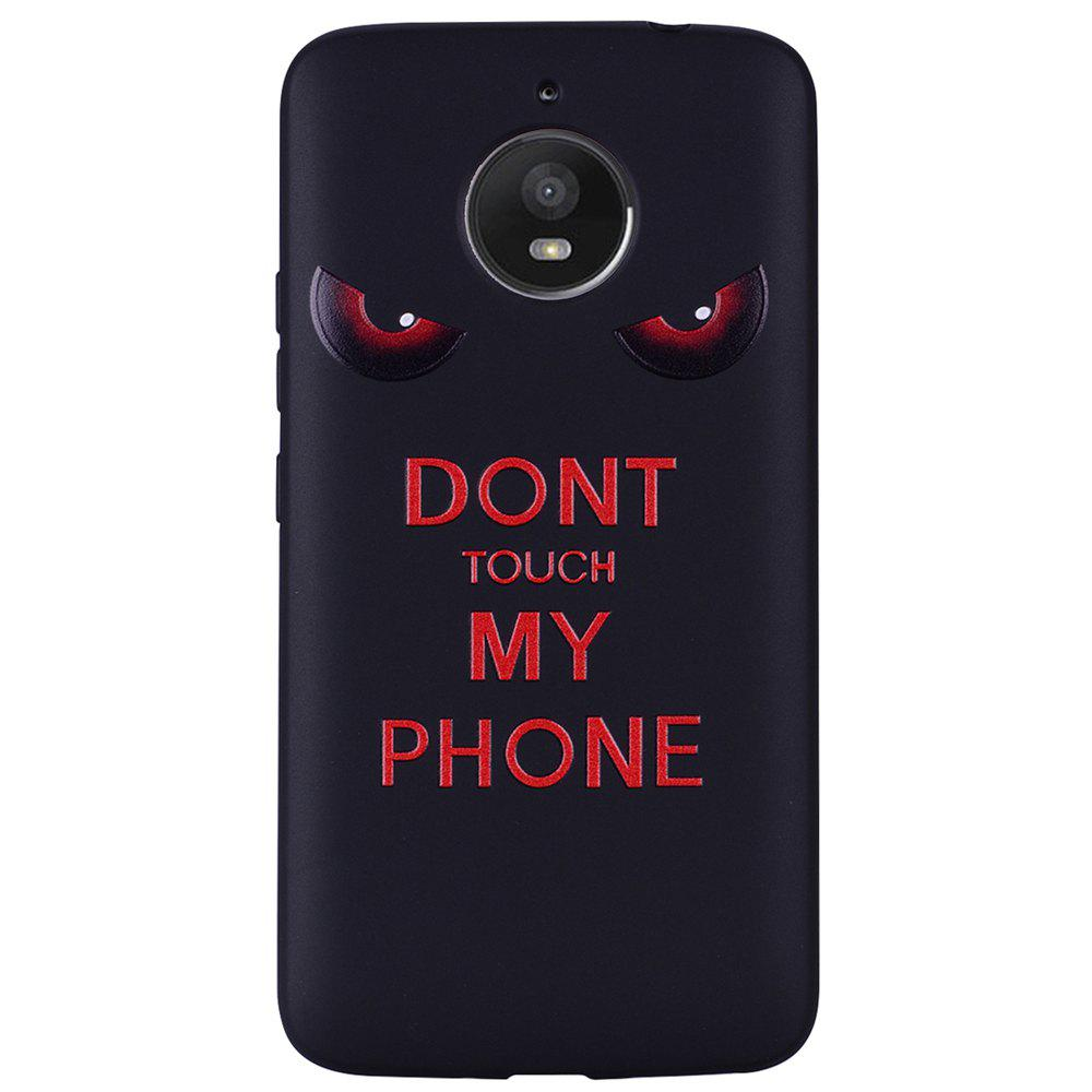 Discount For MOTO E4Plus Red Eyes TPU Phone Protection Shell