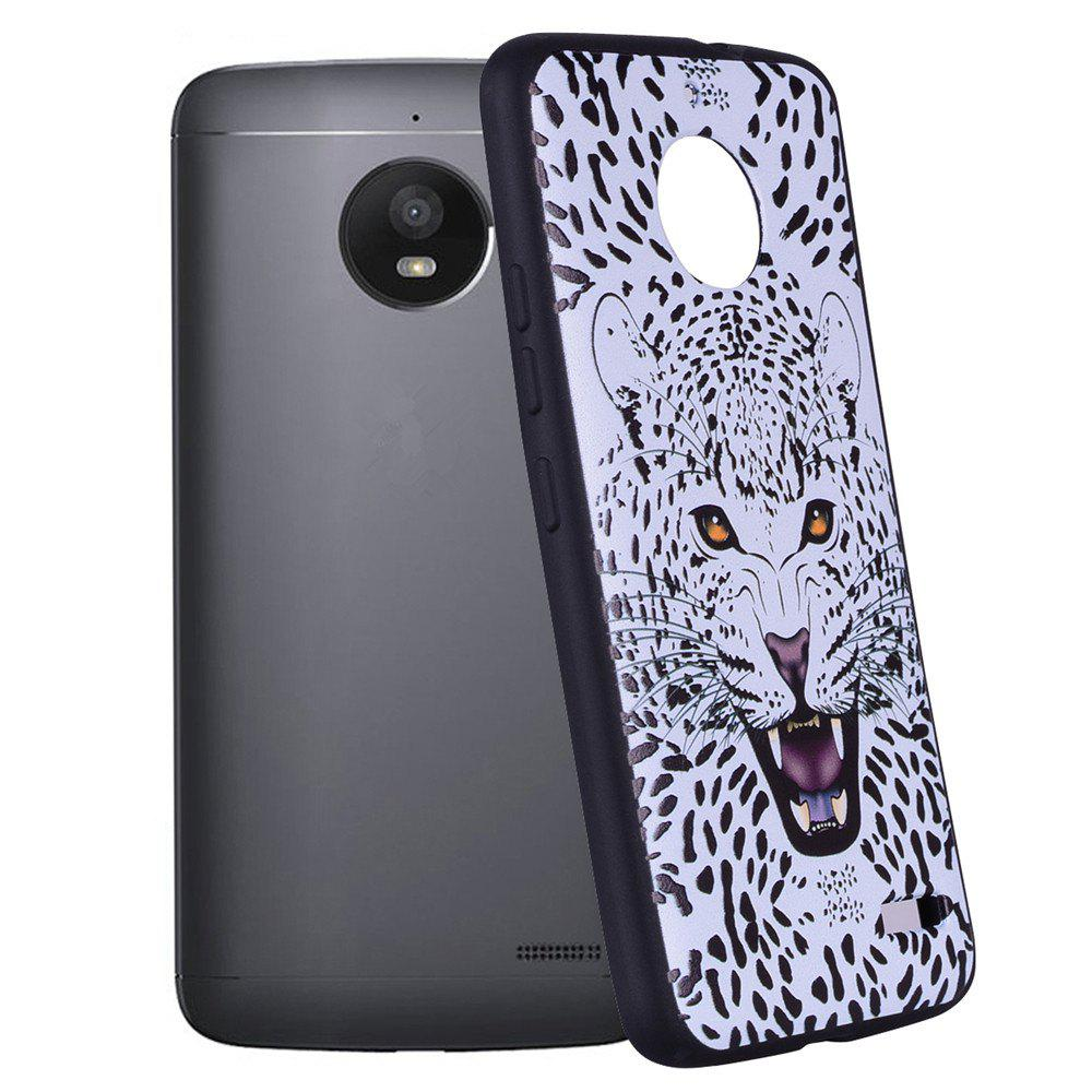 Outfits For MOTO E4 White Leopard Design TPU Mobile Phone Protection Shell