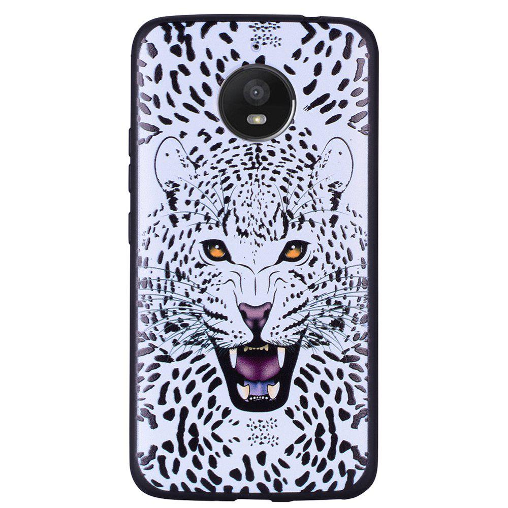 Affordable For MOTO E4Plus White Leopard Design TPU Mobile Phone Protection Shell