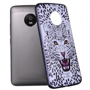For MOTO G5 White Leopard Design TPU Phone Protection Shell -