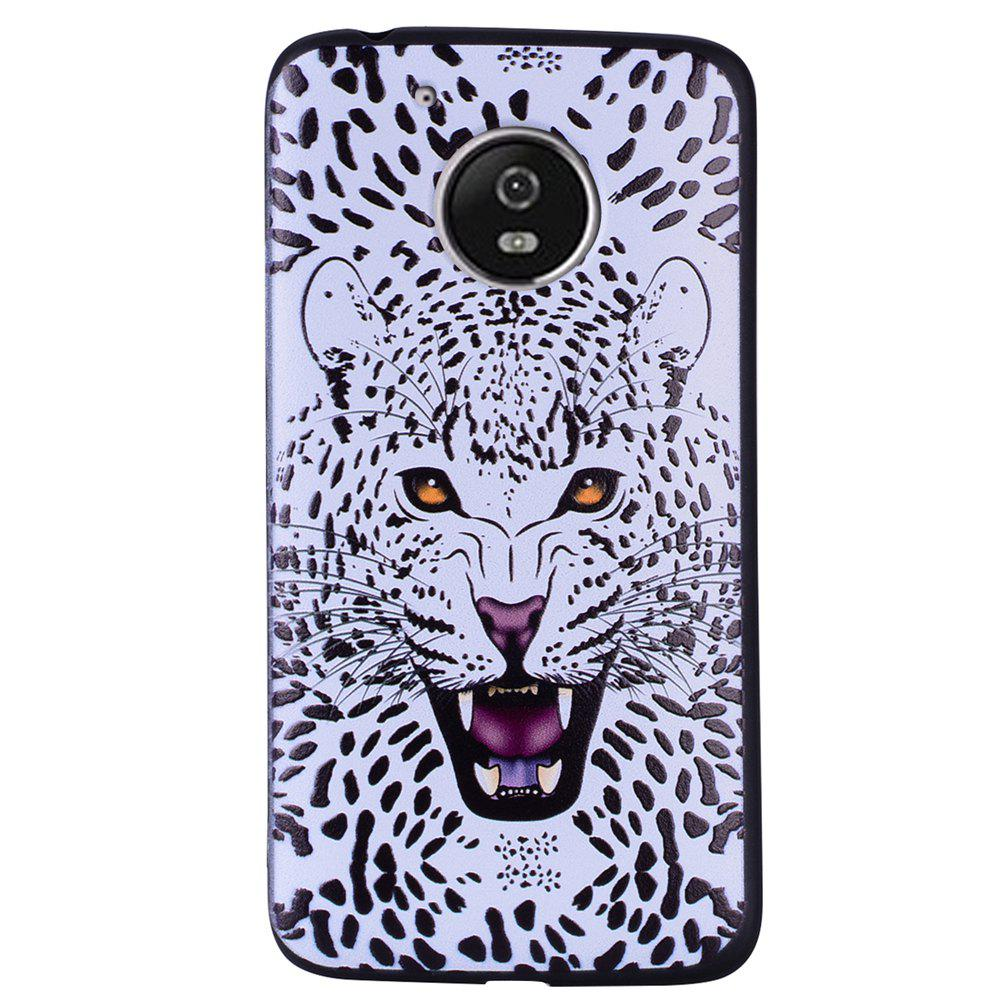 Buy For MOTO G5 White Leopard Design TPU Phone Protection Shell