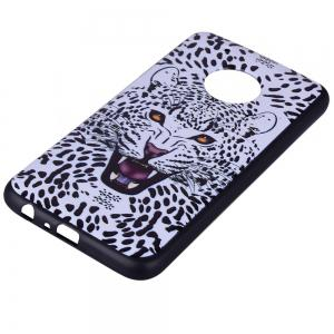 For MOTO G5Plus White Leopard Design TPU Phone Protection Shell -