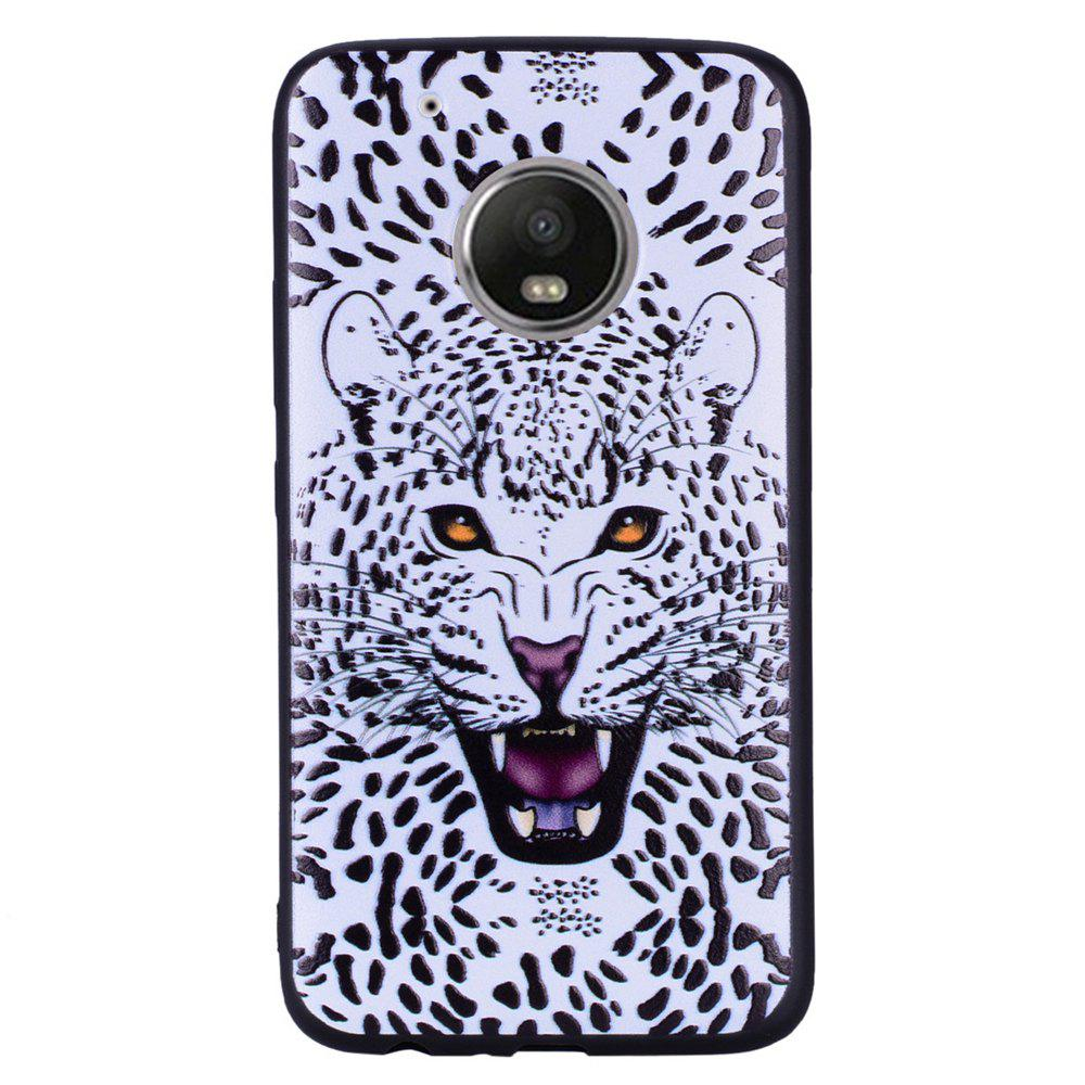 Sale For MOTO G5Plus White Leopard Design TPU Phone Protection Shell