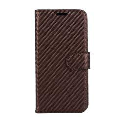 Carbon Fiber Flip Case for Huawei Mate 10 Card Holder Wallet Cover with Stand Function -