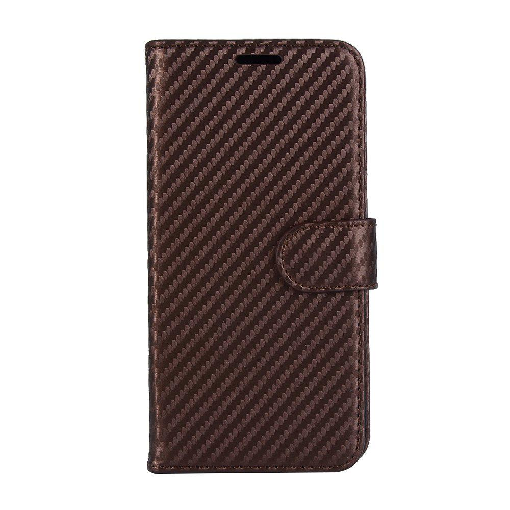 Outfits Carbon Fiber Flip Case for Huawei Mate 10 Card Holder Wallet Cover with Stand Function