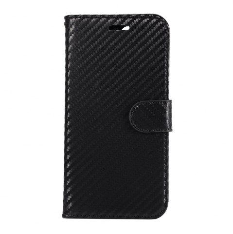 Trendy Carbon Fiber Flip Case for Huawei Honor V10 Wallet Cover with Stand Function