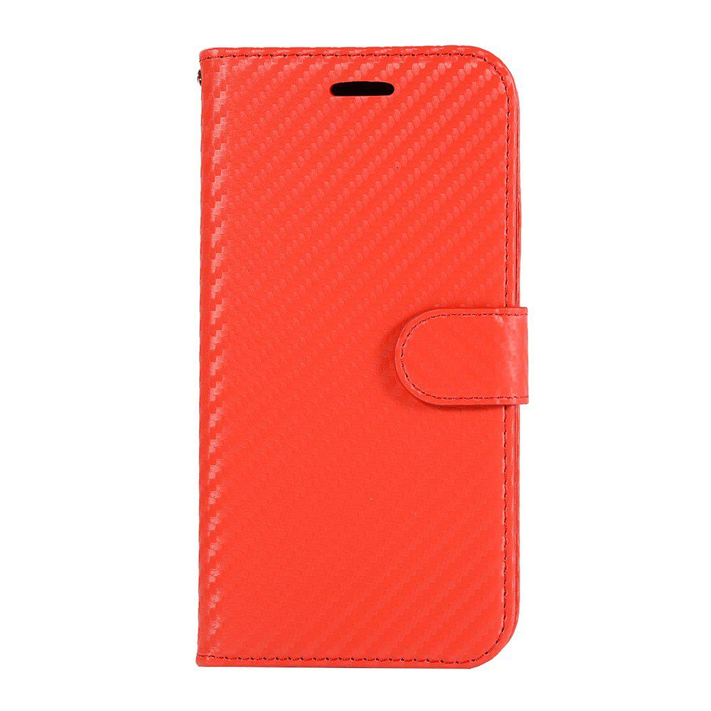 Fancy Carbon Fiber Flip Case for Huawei Honor V10 Wallet Cover with Stand Function