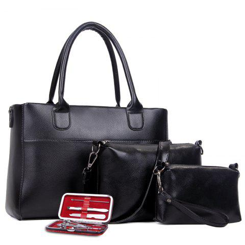 Online Female New Fashion Messenger Bag Three-piece Suit