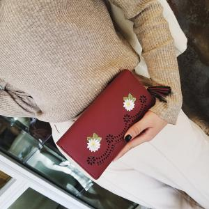 New Personality Zipper Small Fresh Long Purse Female -