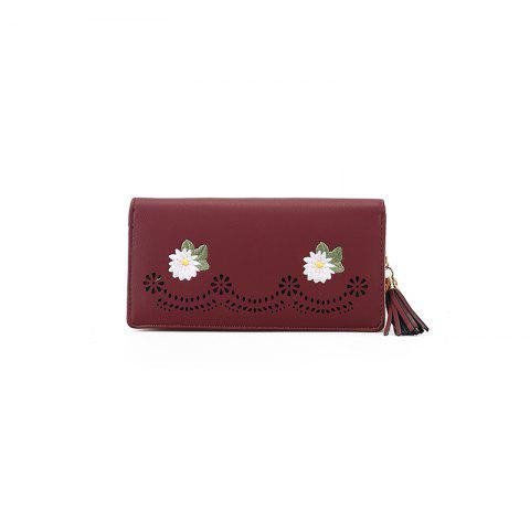 Discount New Personality Zipper Small Fresh Long Purse Female