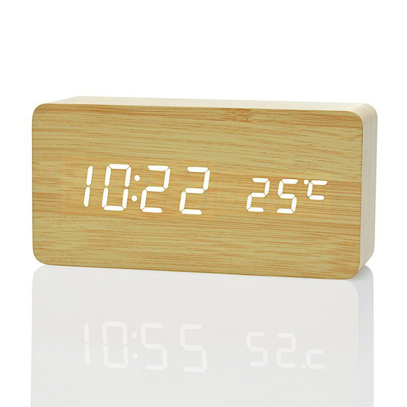 Discount Creative Home Bedside Wooden Style Clock