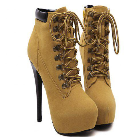 Affordable 2018 Spring New High Heel Frenulum Bare Boots