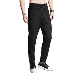 Slim Fit Casual Side Zipper Pants -