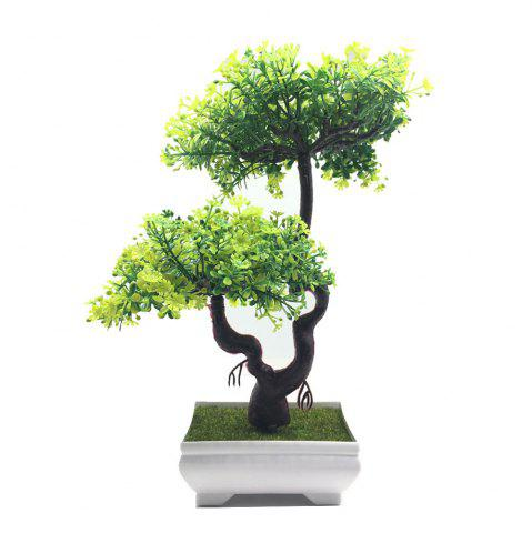 Simulation décorative plante en pot Bonsai