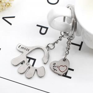 Creative Romantic Love in The Palm of The Couple Key Ring -