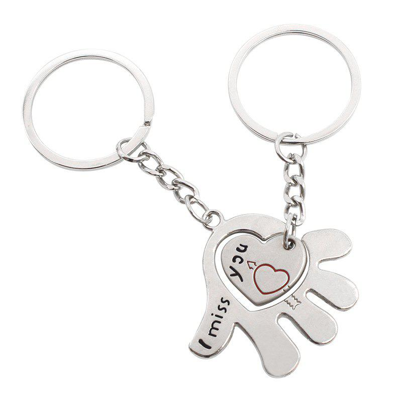 Shops Creative Romantic Love in The Palm of The Couple Key Ring