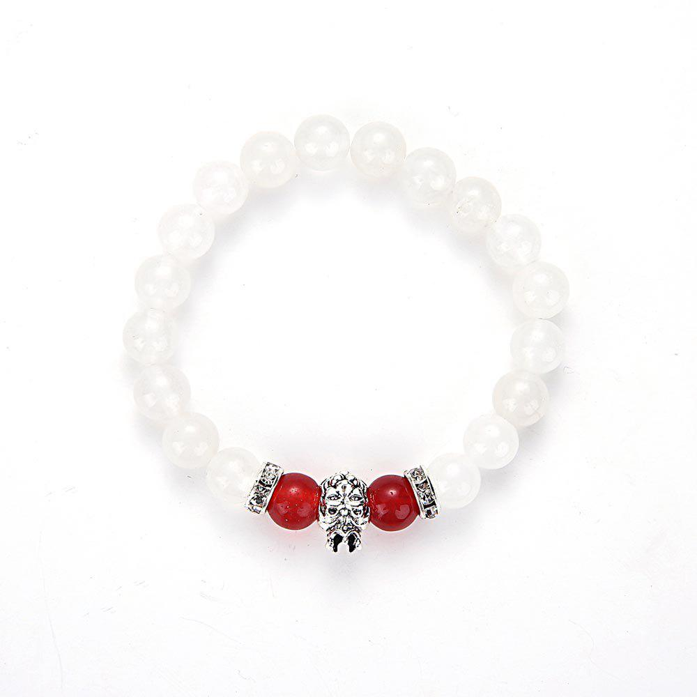 3b15f7891ec 39% OFF] MGS1052 Natural White Marble Crystal Lion'S Head Bracelet ...