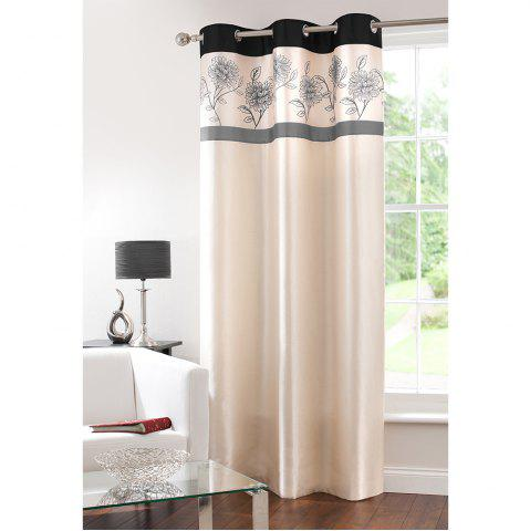 Shop Gyrohome Faux Silk Grommets Top Fully Lined Readymade Flowers  Print Pattern Curtain 1 Panel