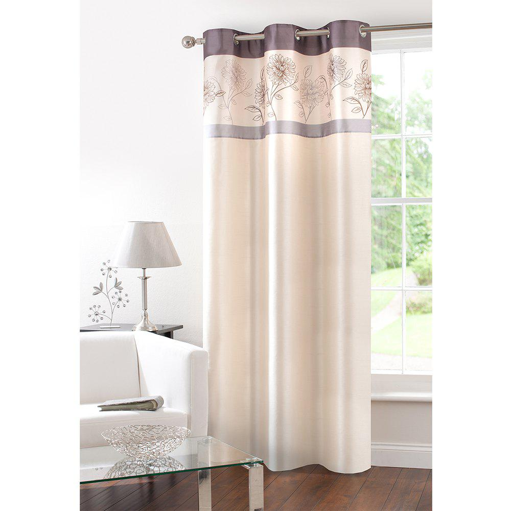 Discount Gyrohome Faux Silk Grommets Top Fully Lined Readymade Flowers  Print Pattern Curtain 1 Panel