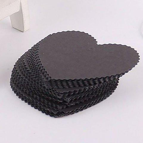 Sale DIHE DIY Heart - Shaped Holiday Party Decorate Retro Card 50PCS
