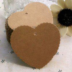 DIHE DIY Heart - Shaped Holiday Party Decorate Retro Card 50PCS -