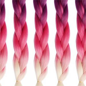 3 Tone High Temperature Ombre Jumbo Braiding 24 inch Crochet Braids Kanekalon Synthetic Fiber Twist 5pcs -