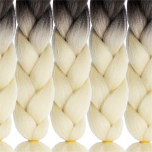2 Tone  High Temperature Ombre Jumbo Braiding 24 inch Crochet Braids Kanekalon Synthetic Fiber Twist 5pcs -