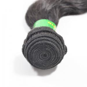 10 inch Brazilian Straight Unprocessed Real Human Hair Extensions Natural Black Color -