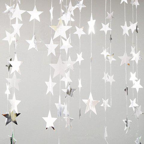 Hot 4 Meters of Creative Cardboard Stars Ornaments Decorate Wedding Party Holiday