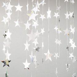 4 Meters of Creative Cardboard Stars Ornaments Decorate Wedding Party Holiday -