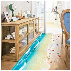New Beach Style Wall Stickers Kitchen Bathroom Living Room Sofa Decoration -