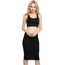 Sexy Women Bodycon Casual Clubwear Party Crop Top и Wrap Skirt Set -