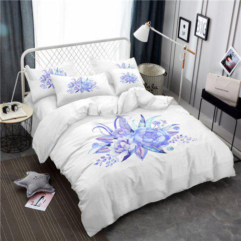 Outfits Embroidered Leaf Petals Color Painting Series Three Pieces of Bedding Set