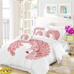 Embroidered Swan Feather Series Three Pieces of Bedding SK03 -