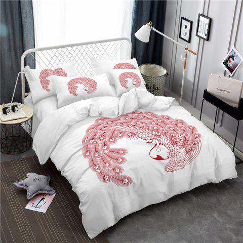 Shop Embroidered Swan Feather Series Three Pieces of Bedding SK03