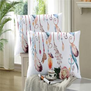 Feather Painting Series Embroidery Tribal Designs Three Piece Bedding Set Feather Necklace AS13 -