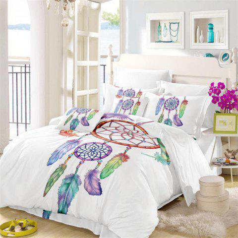 Cheap Embroidered Feather Bell Pattern Painting Series Three Pieces of Bedding Set AS12
