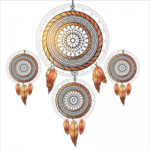 Embroidered Feather Tribal Pattern Series Three Pieces Bedding Tribes AS11 -