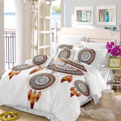 Fancy Embroidered Feather Tribal Pattern Series Three Pieces Bedding Tribes AS11