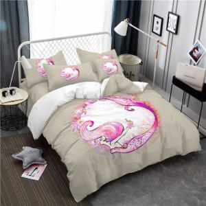 Embroidered Marine Mermaid Series Three or Four Pieces Bedding Set -