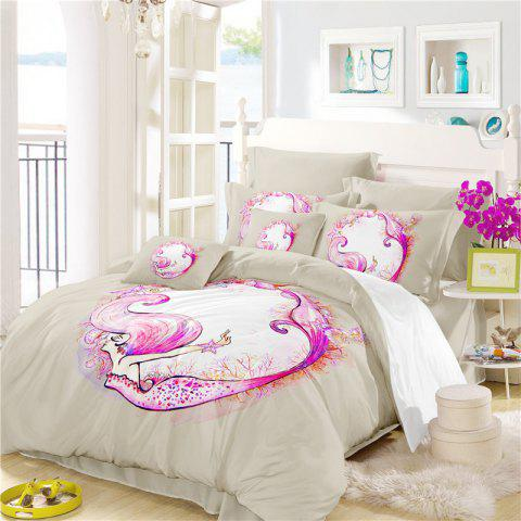 Outfits Embroidered Marine Mermaid Series Three or Four Pieces Bedding Set