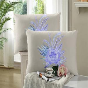 Embroidered Leaf Petals Color Painting Series Three Pieces of Bedding Saussurea Sk01 -