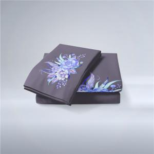 Embroidered Leaf Petals Color Painting Series Three Pieces of Beddin -