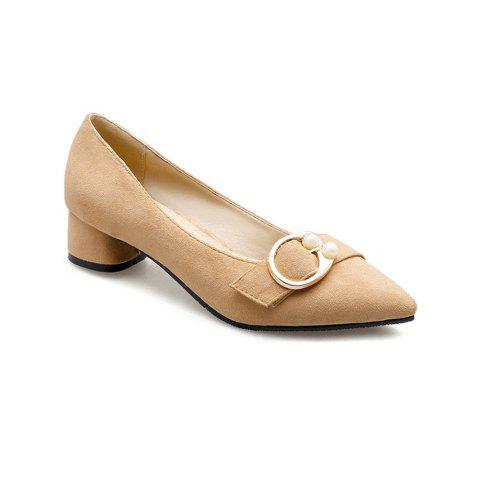 Outfit Pointed Thick and Shallow Single Shoes